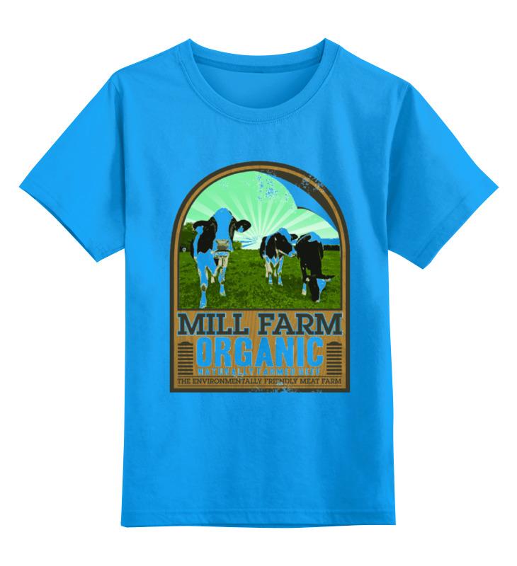 Купить 0000000737343, Детская футболка Printio Органик цв.голубой р.104,