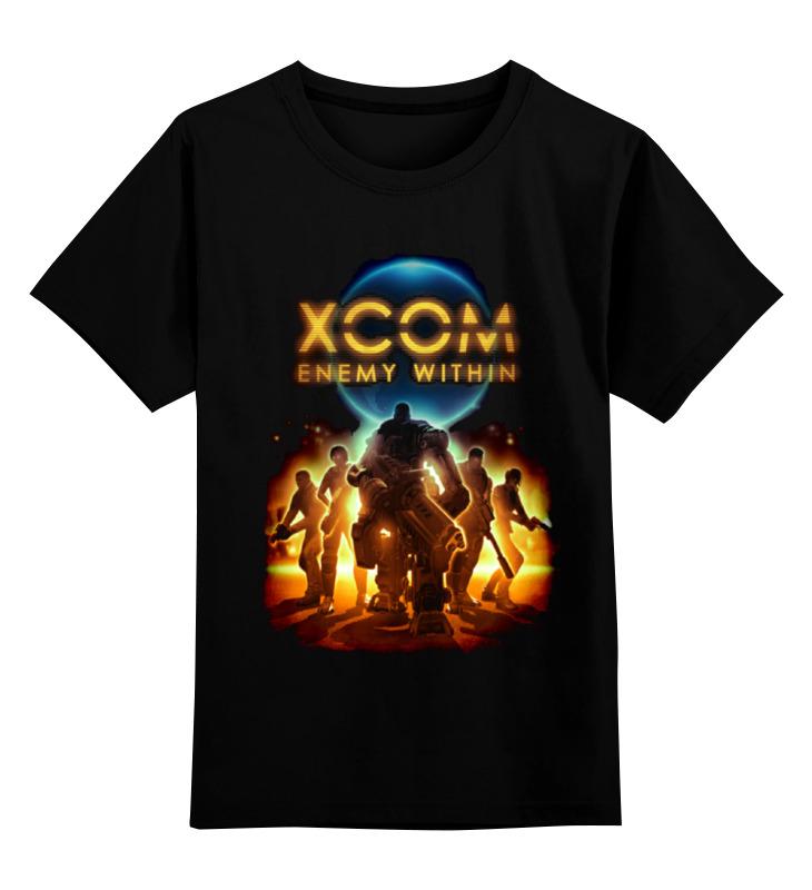 Купить 0000000735127, Детская футболка Printio X-com 2 цв.черный р.104,