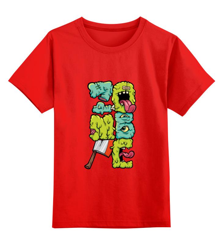 Купить 0000000731943, Детская футболка Printio Izombie цв.красный р.104,