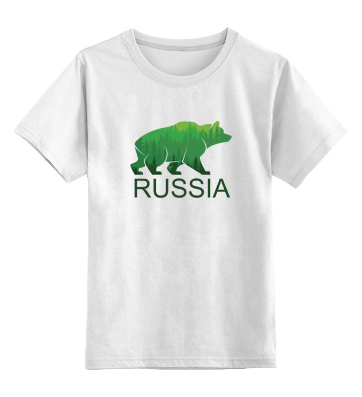 Детская футболка Printio Россия, russia цв.белый р.104 0000000731475 по цене 790