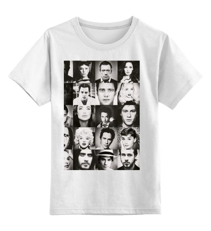 Купить 0000000739901, Детская футболка Printio Звезда кино цв.белый р.116,