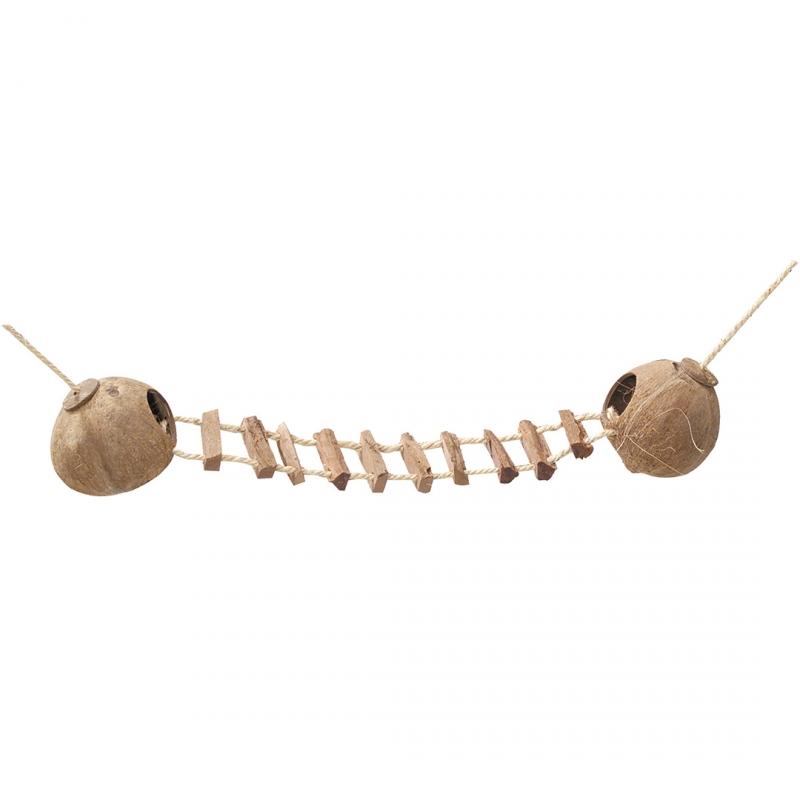 Игрушка для грызунов Ebi Два кокосовых домика