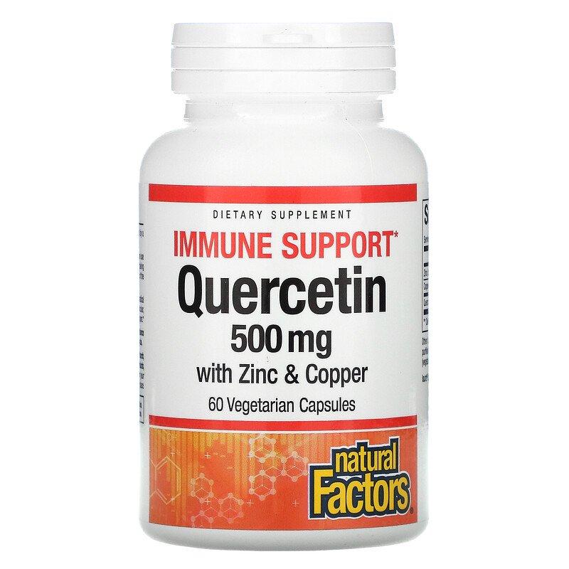 Купить Кверцетин комплекс Natural Factors Quercetin with Zinc & Coper 500 мг капсулы 60 шт.
