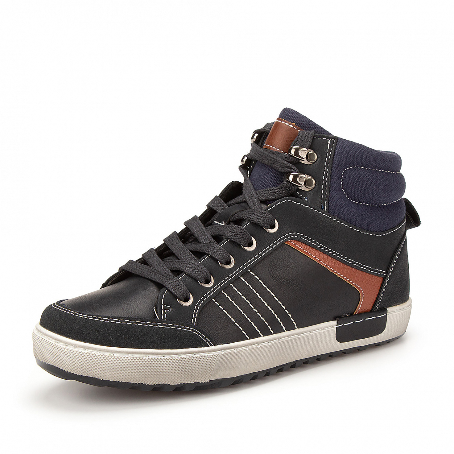Купить 189-02BO-032SR, Ботинки для мальчиков ZENDEN, цв. синий, р-р 39,