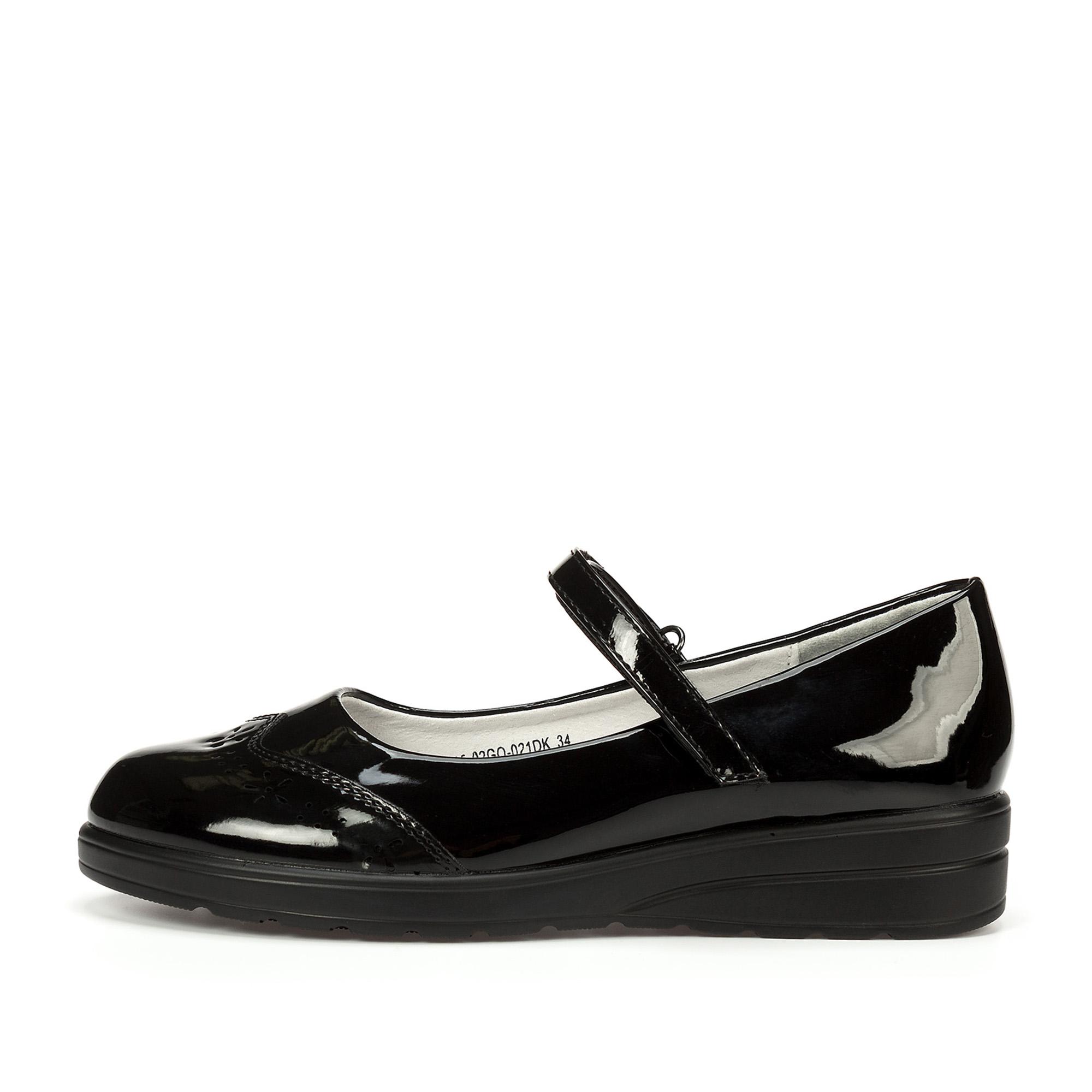 Купить 215-02GO-021DK, Туфли для девочек ZENDEN, цв. черный, р-р 32,