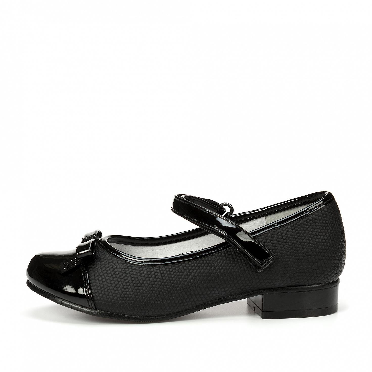 215-02GO-017SK, Туфли для девочек ZENDEN, цв. черный, р-р 32,  - купить со скидкой