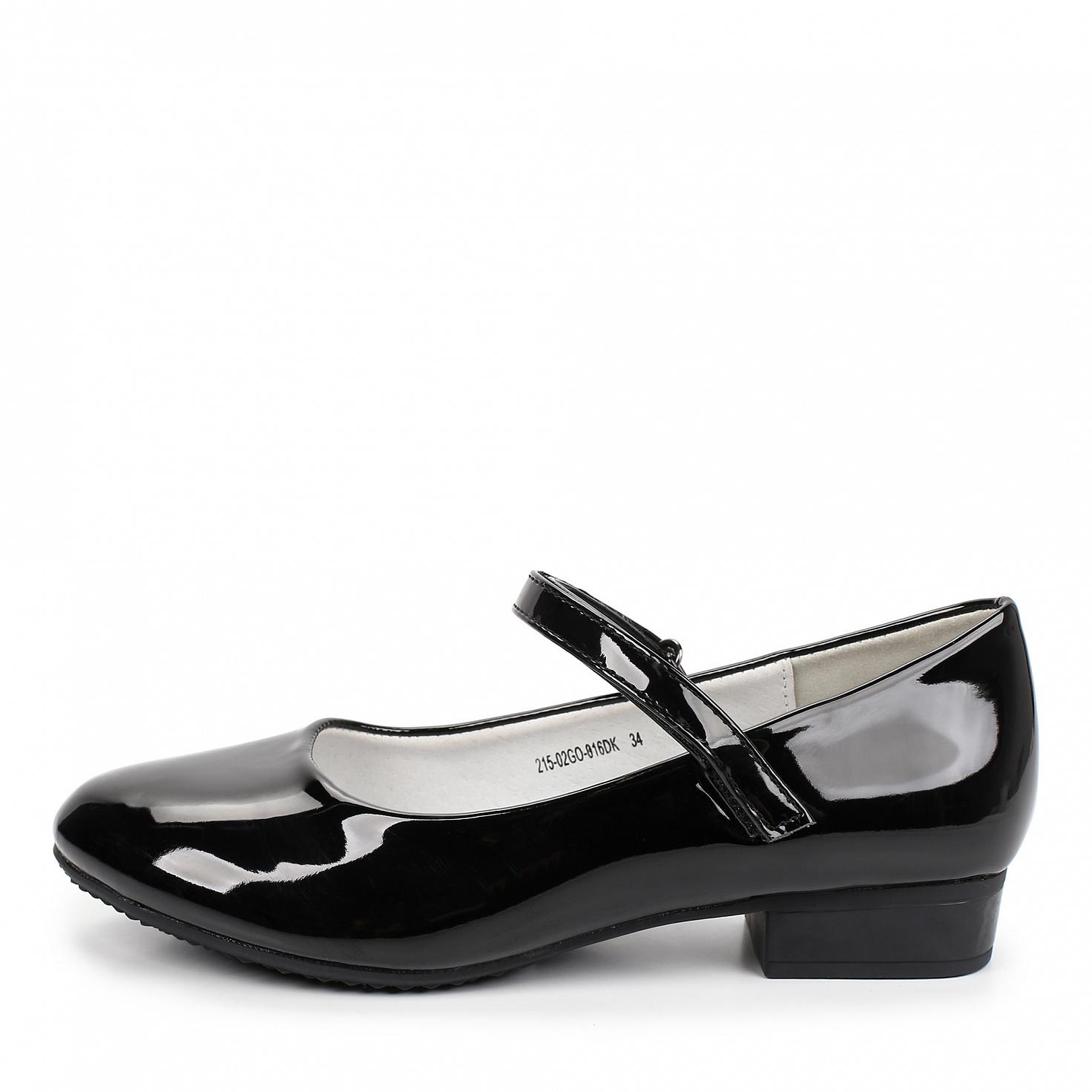 Купить 215-02GO-016DK, Туфли для девочек ZENDEN, цв. черный, р-р 32,