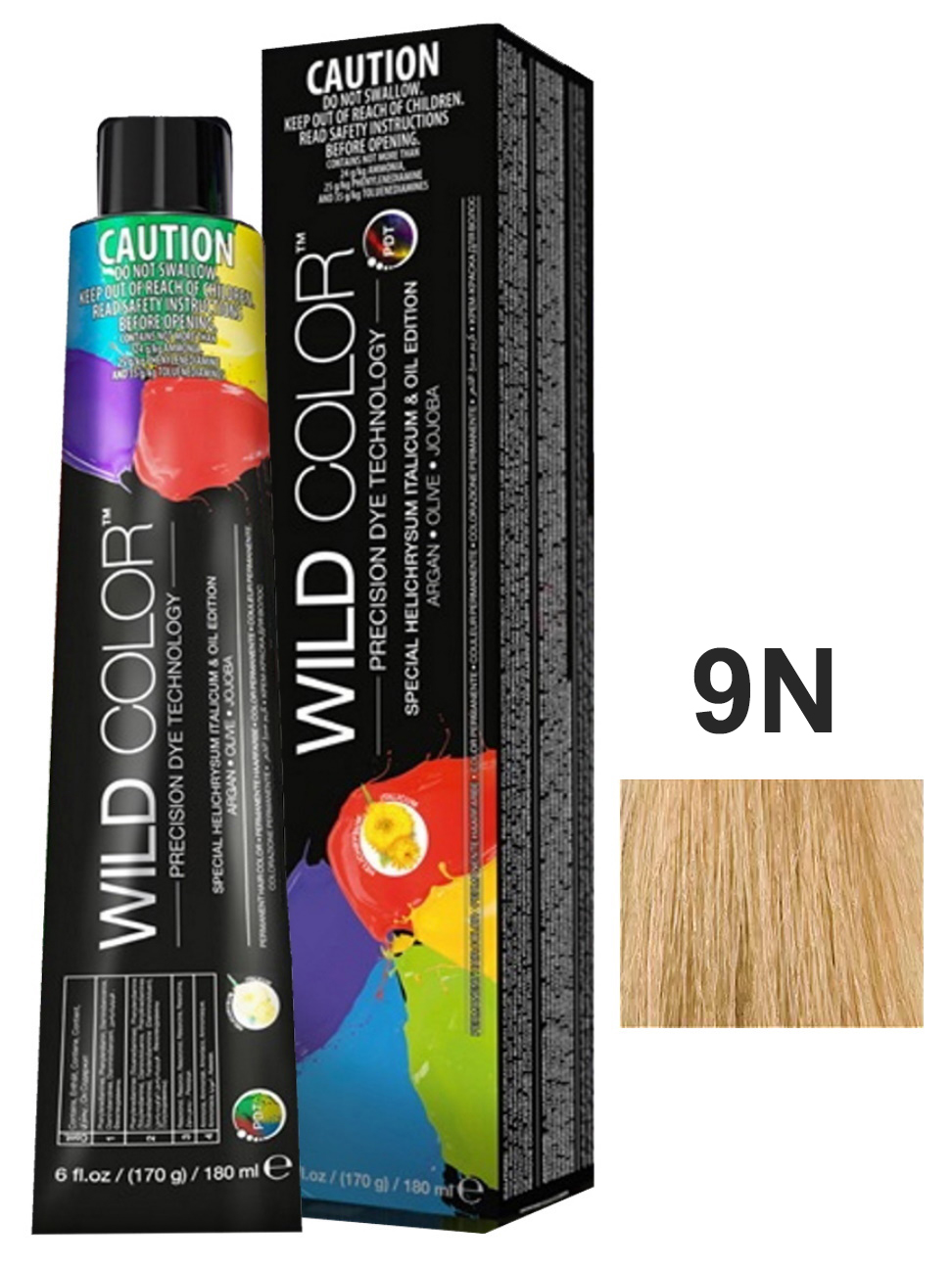 Купить Крем-краска для волос WildColor PERMANENT COLOR 9N очень светлый блонд 180 мл