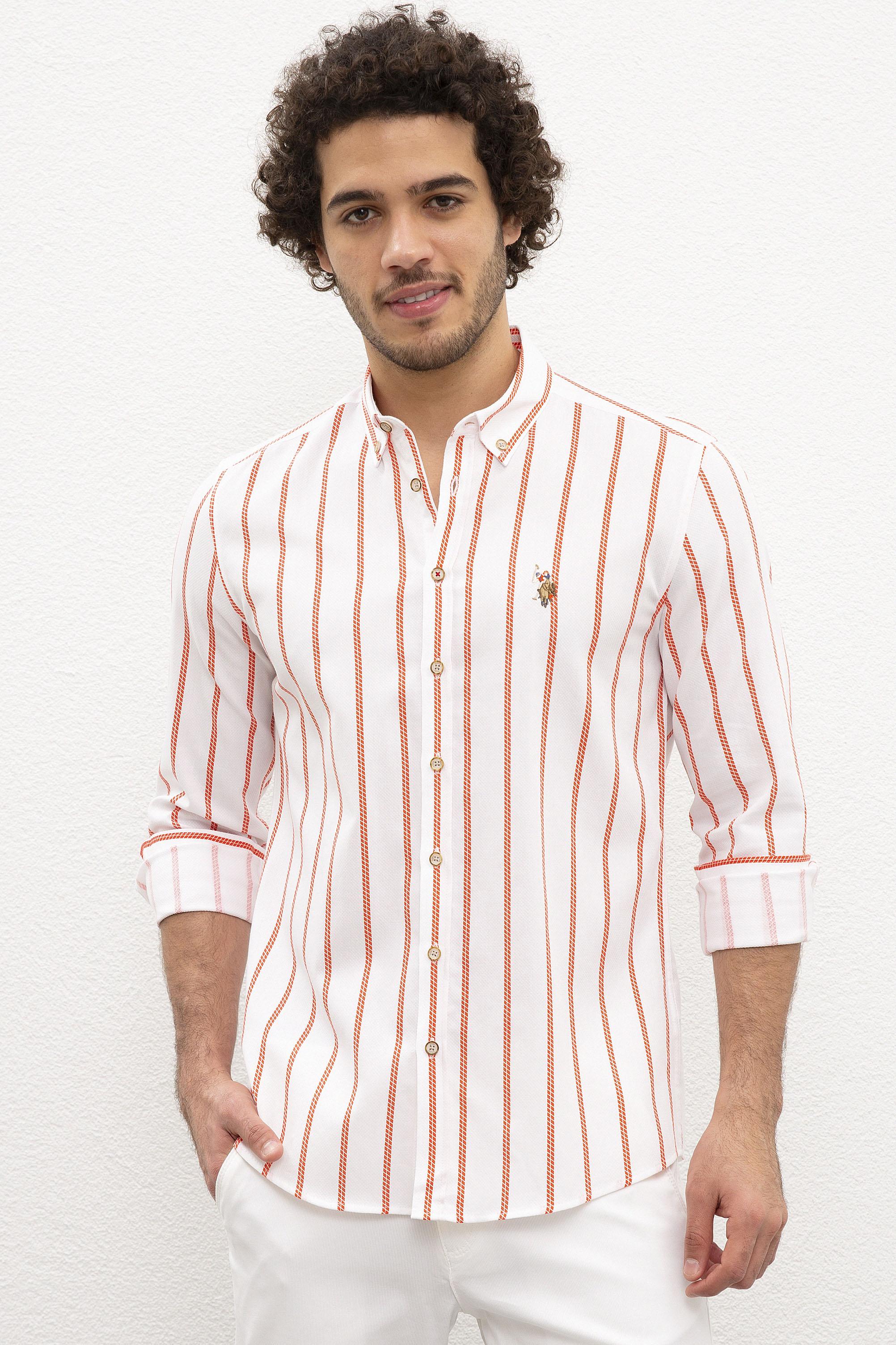 Рубашка мужская U.S. POLO Assn. G081SZ0040SEBASTIAN020Y белая XL