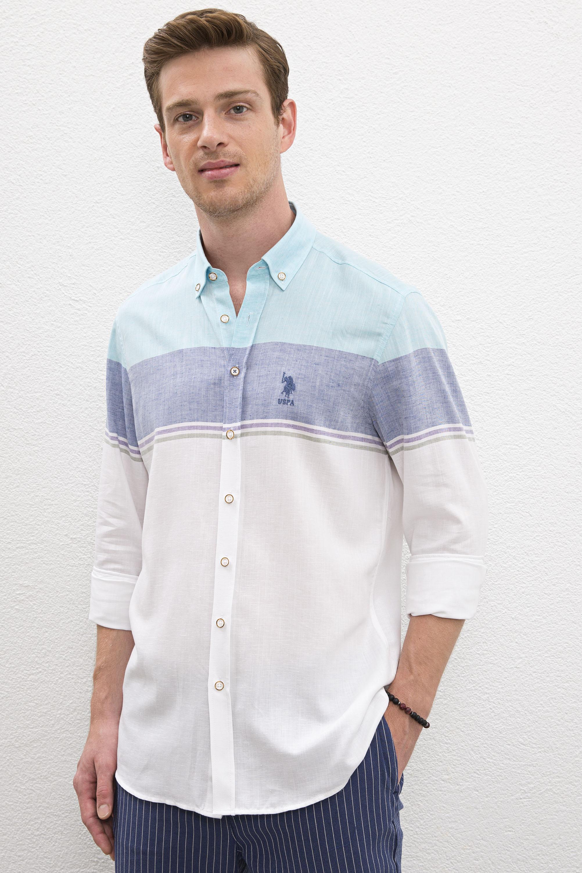 Рубашка мужская U.S. POLO Assn. G081SZ0040MAVIS белая L