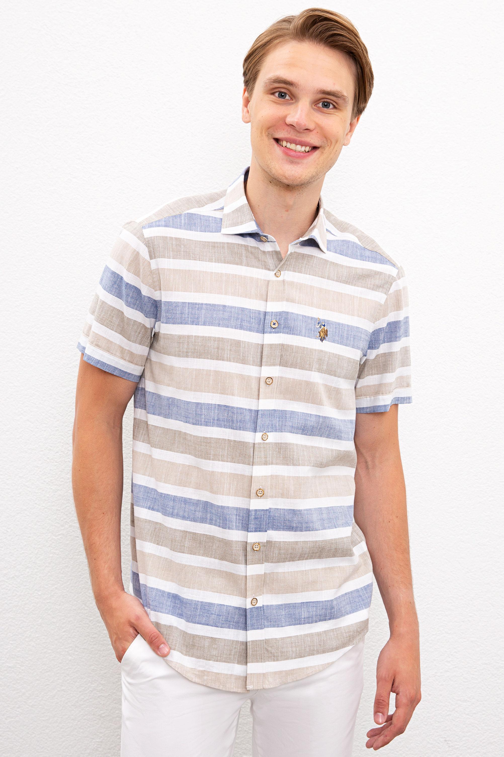 Рубашка мужская U.S. POLO Assn. G081SZ0040ENDOS хаки S