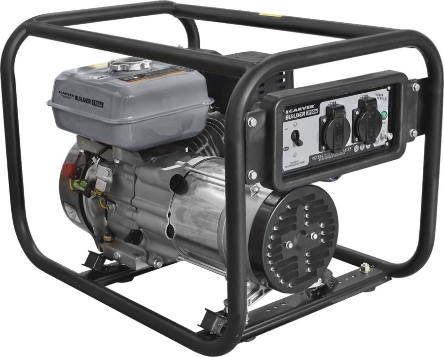 Бензиновый генератор CARVER PPG  3900А BUILDER,