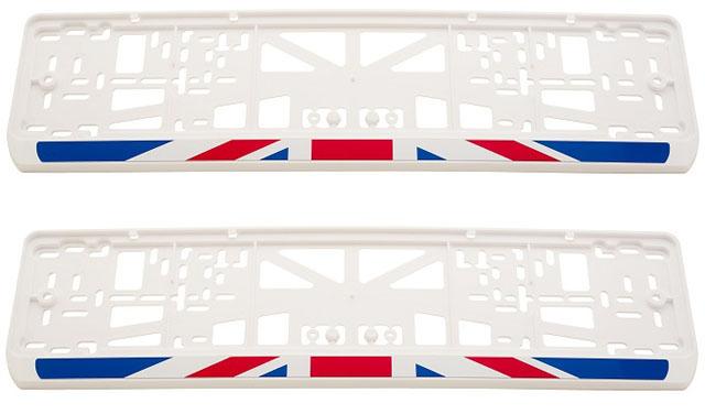 Рамки номерного знака RTM белого цвета Английский