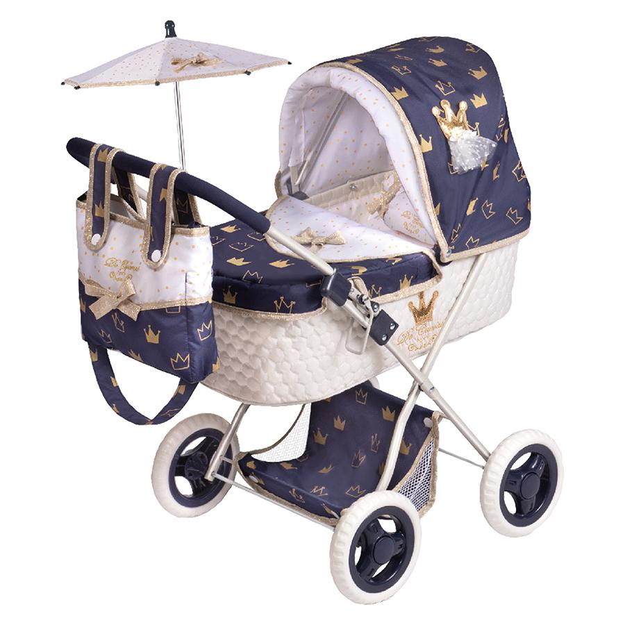 Купить Коляска с сумкой и зонтиком серии Классик Голд, 60 см складная 85032, DeCuevas,