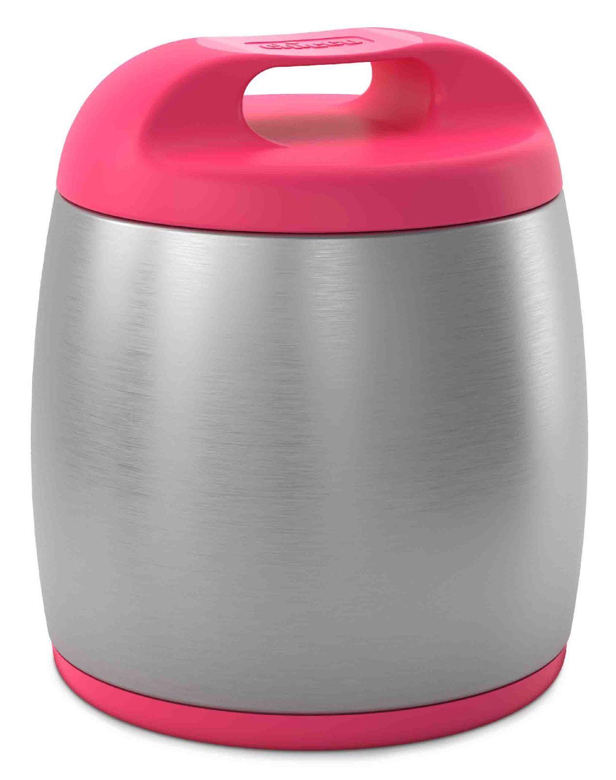 Купить Термос для еды из нержавеющей стали Chicco 6м+ розовый, 350 мл,