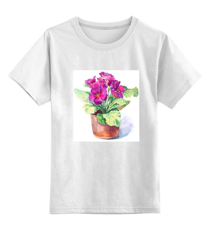 Детская футболка Printio Цветы цв.белый р.116 0000000738004 по цене 695