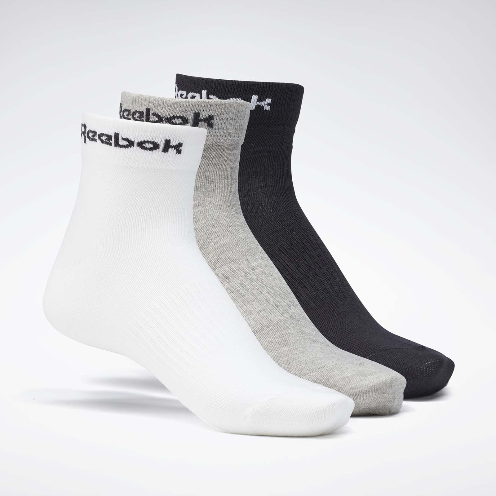 Набор носков унисекс Reebok ACT CORE ANKLE SOCK белый L