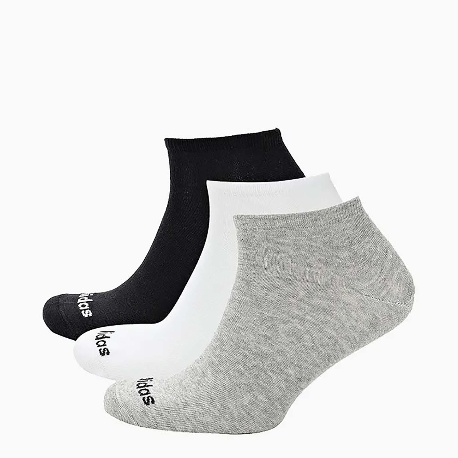 Набор носков унисекс Adidas NO SHOW 3PP серый L