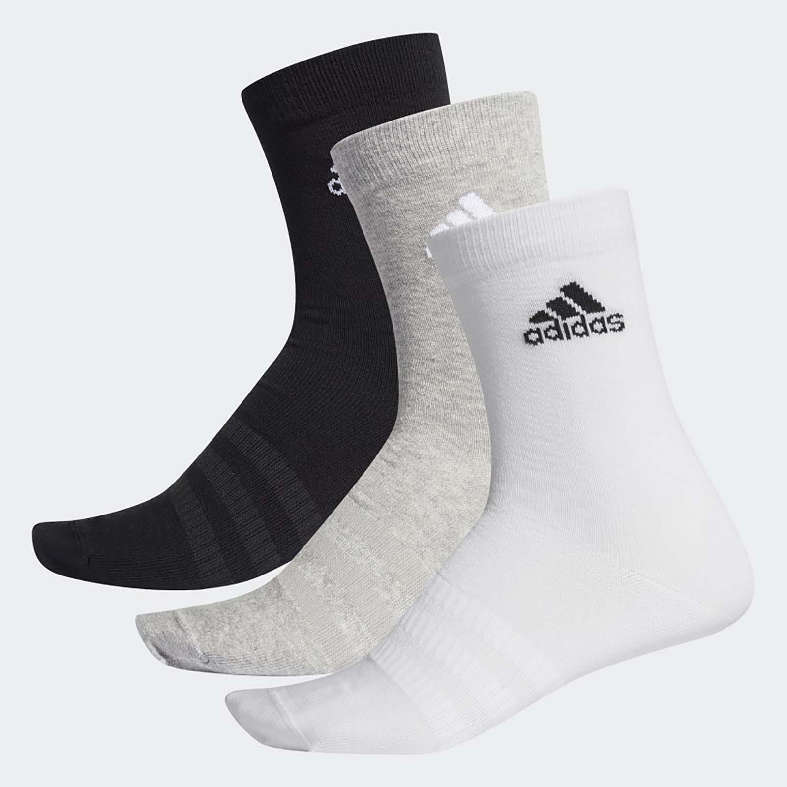 Набор носков унисекс Adidas LIGHT CREW 3PP      MH серый L