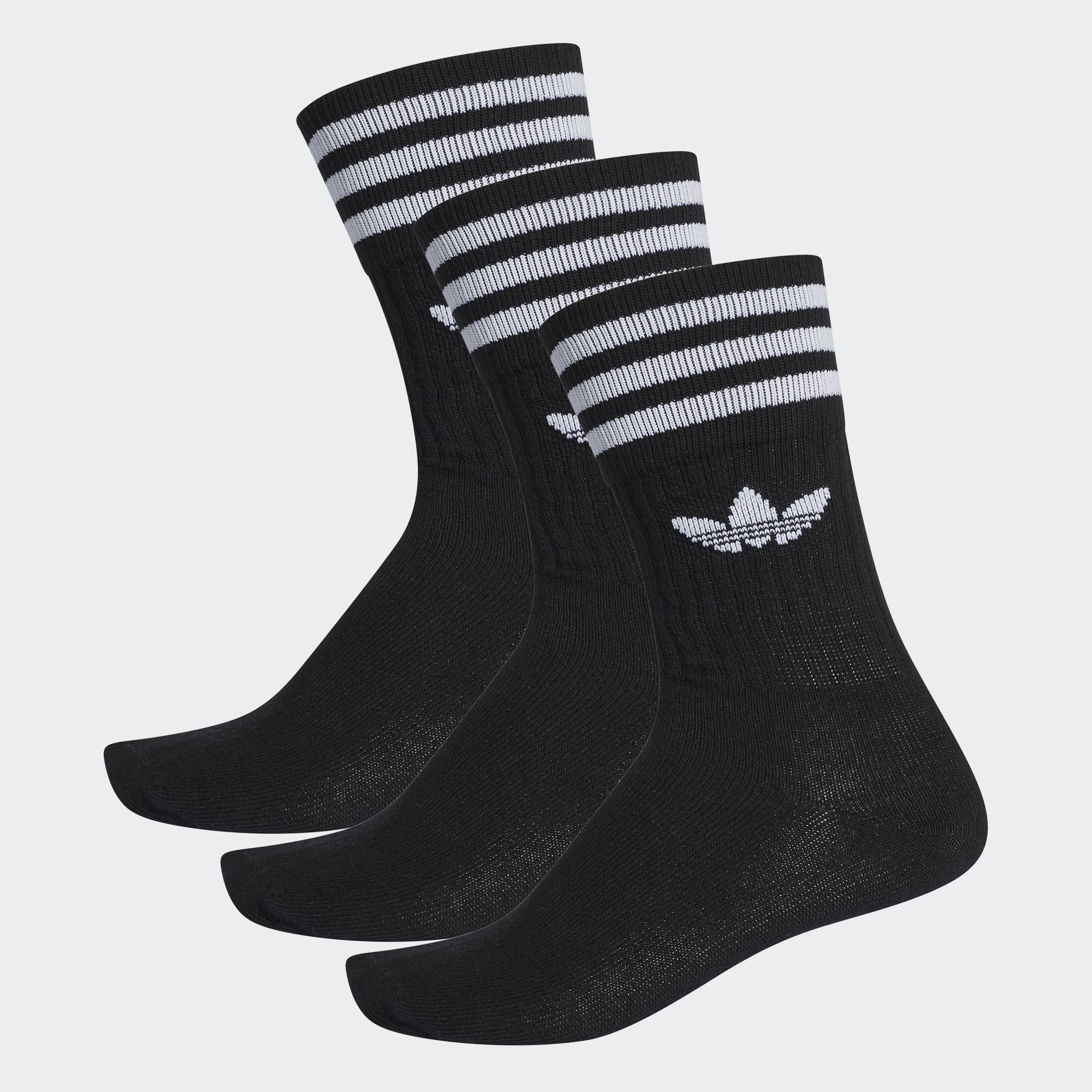 Носки унисекс Adidas SOLID CREW SOCK черные 39/42