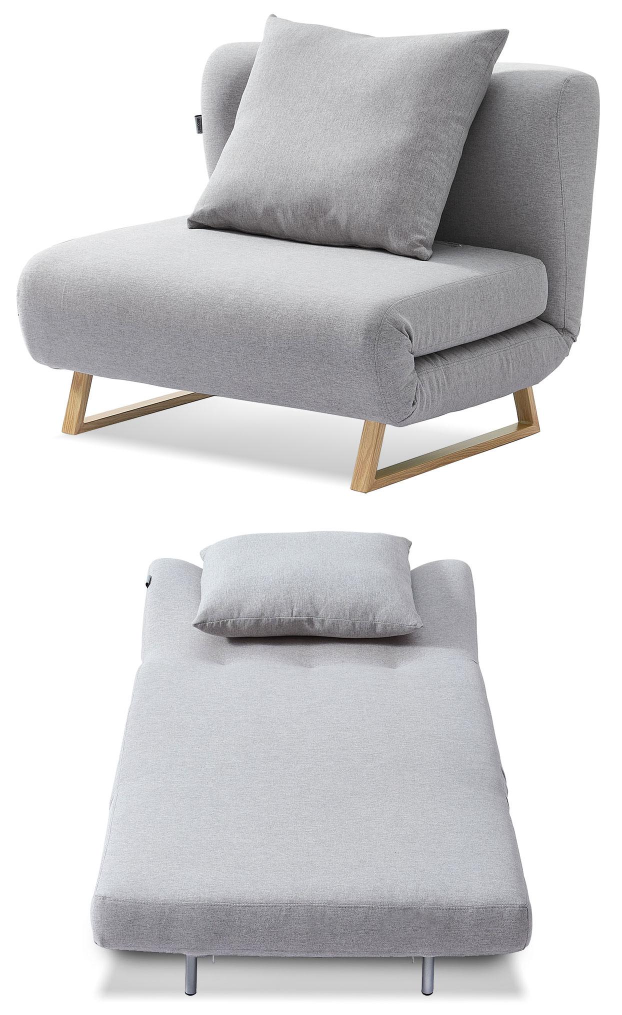 Кресло кровать Rosy, серый/без принта