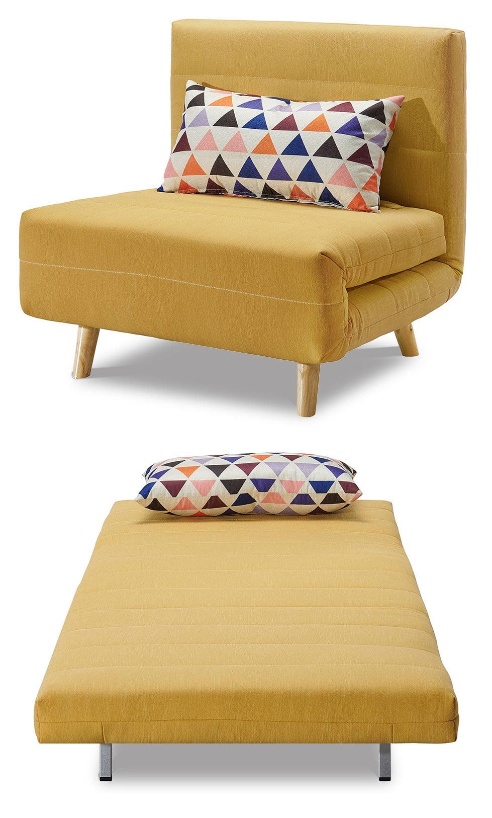 Кресло кровать Flex, желтый