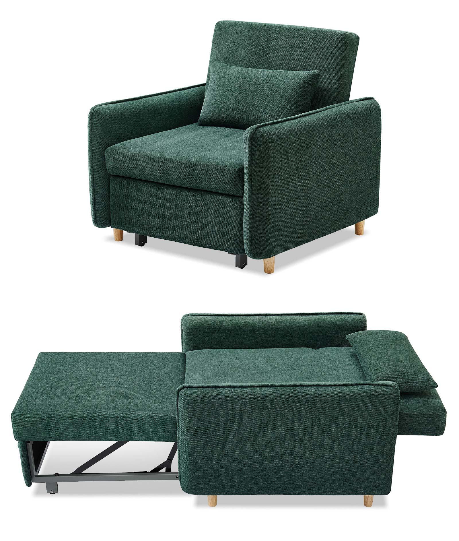 Кресло кровать Arizona, темно зеленый