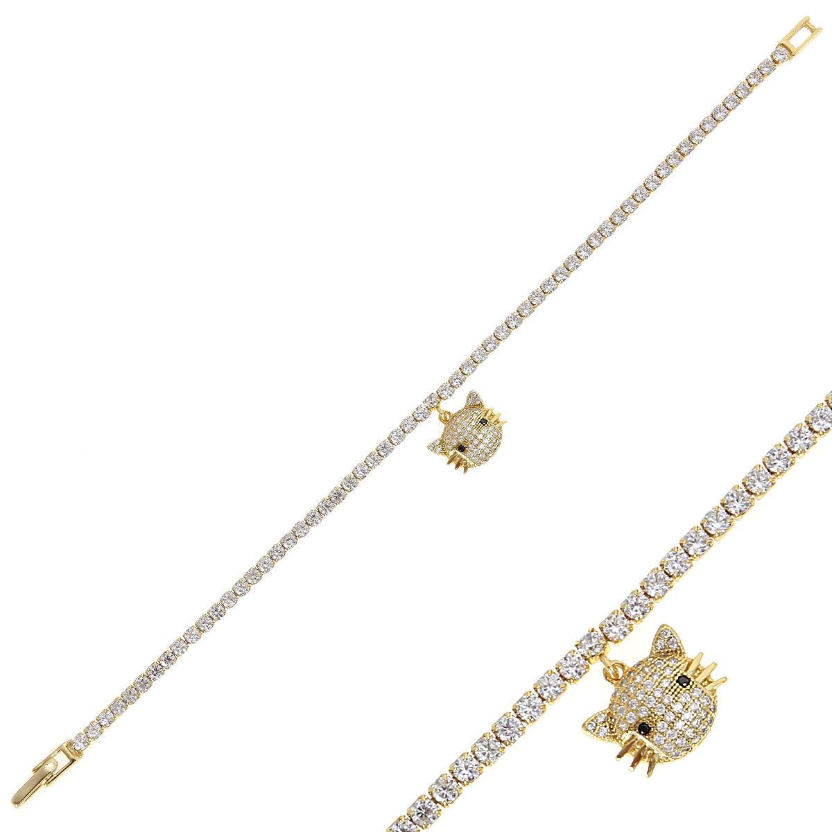 Браслет женский Balex Jewellery 7456910017 из серебра, фианит, р. 18
