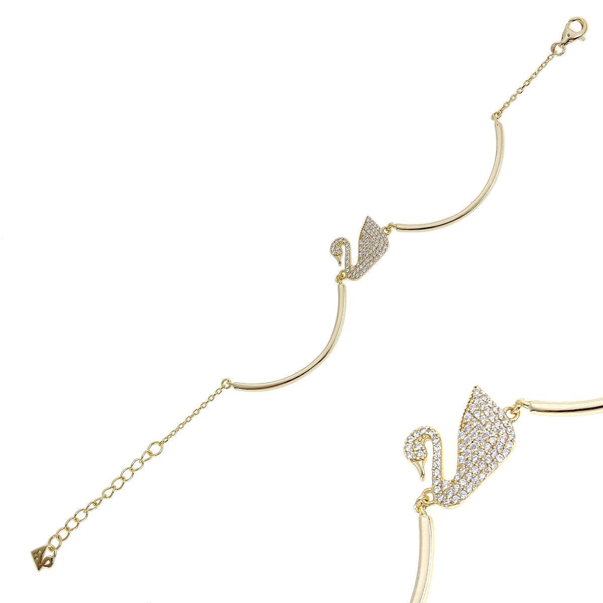 Браслет женский Balex Jewellery 7456910002 из серебра, фианит, р. 17