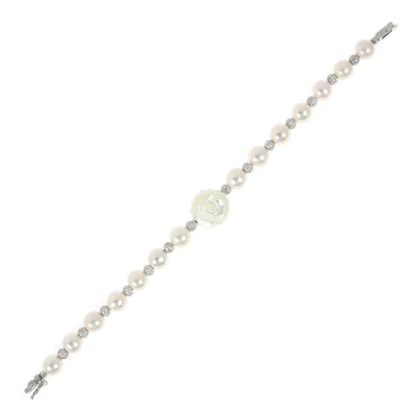 Браслет женский Balex Jewellery 7433920314 из серебра, жемчуг/перламутр, р. 18.5