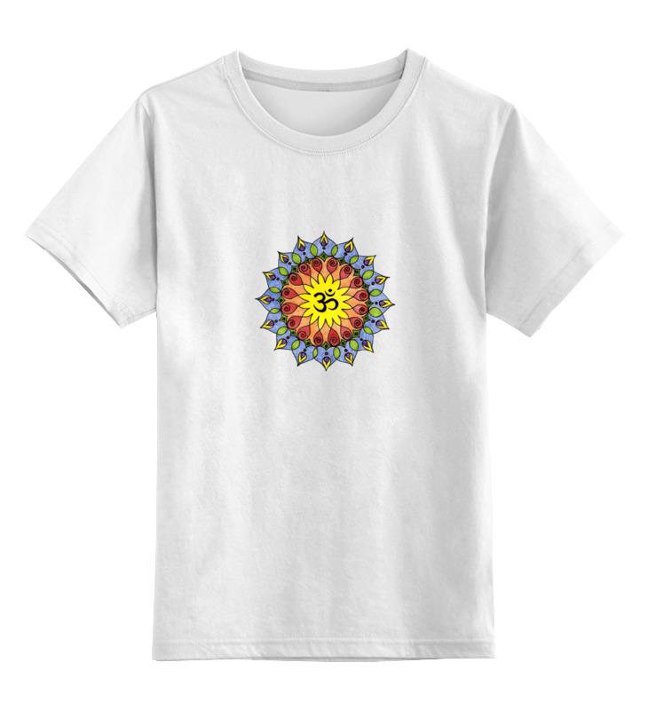 Детская футболка Printio Символ ом цв.белый р.116 0000000727115 по цене 790