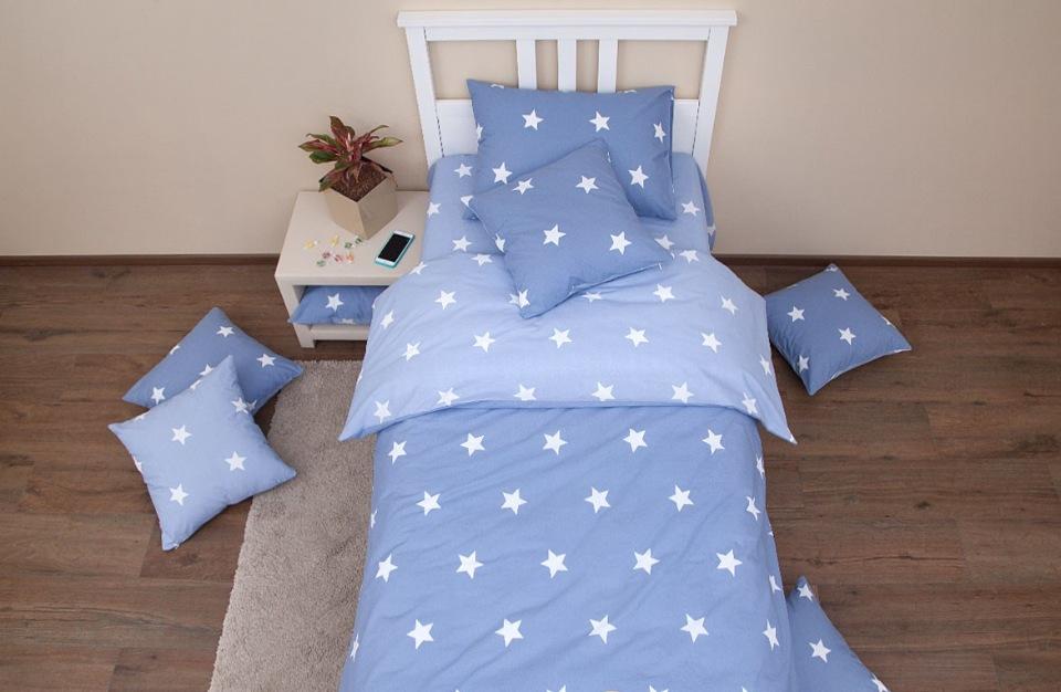 Купить Комплект постельного белья Stars denim 1, 5 спальный Хлопковый край, Хлопковый Край,