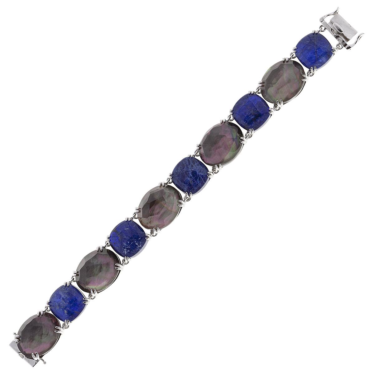 Браслет женский Balex Jewellery 7430930096 из серебра, содалит/перламутр, р. 18