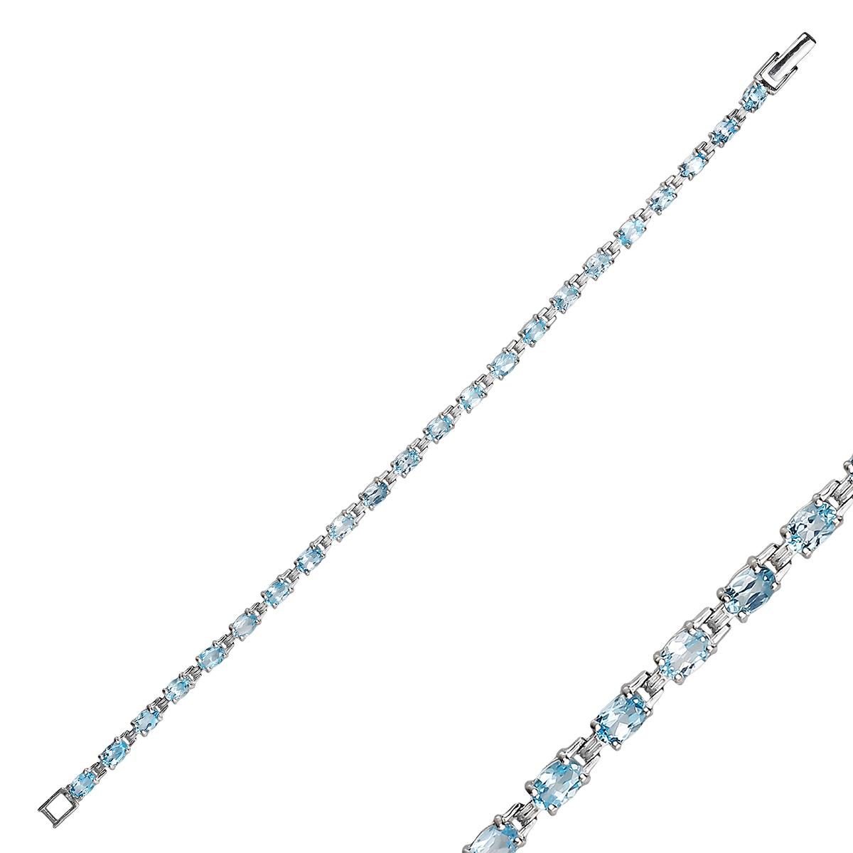 Браслет женский Balex Jewellery 7405937850 из серебра, топаз, р. 21