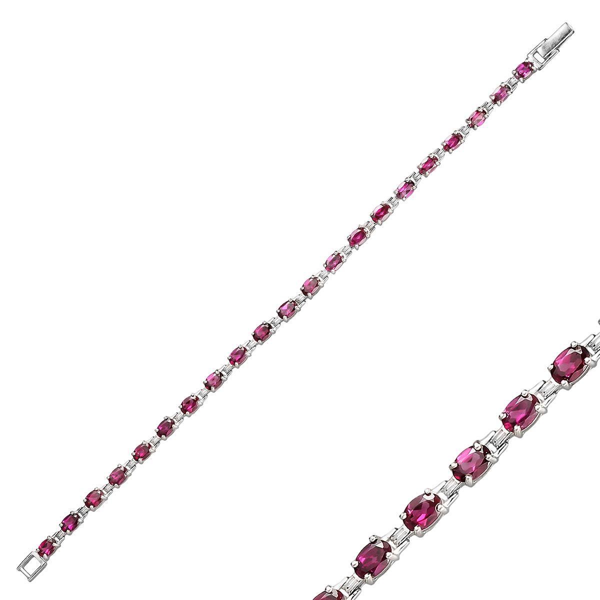 Браслет женский Balex Jewellery 7405937818 из серебра, родолит, р. 21