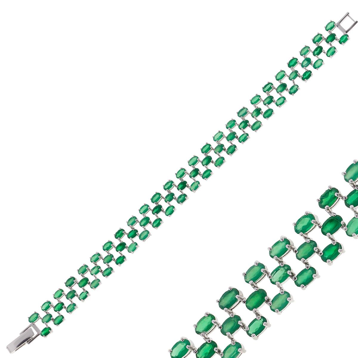 Браслет женский Balex Jewellery 7405937690 из серебра, хризопраз, р. 18