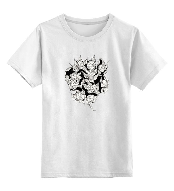 Детская футболка Printio Абстрактные цветы цв.белый р.128 0000000739532 по цене 729