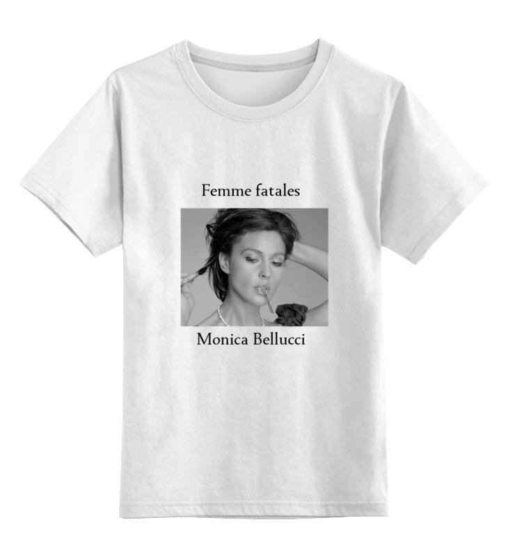 0000000738885, Детская футболка Printio Monica bellucci цв.белый р.128,  - купить со скидкой