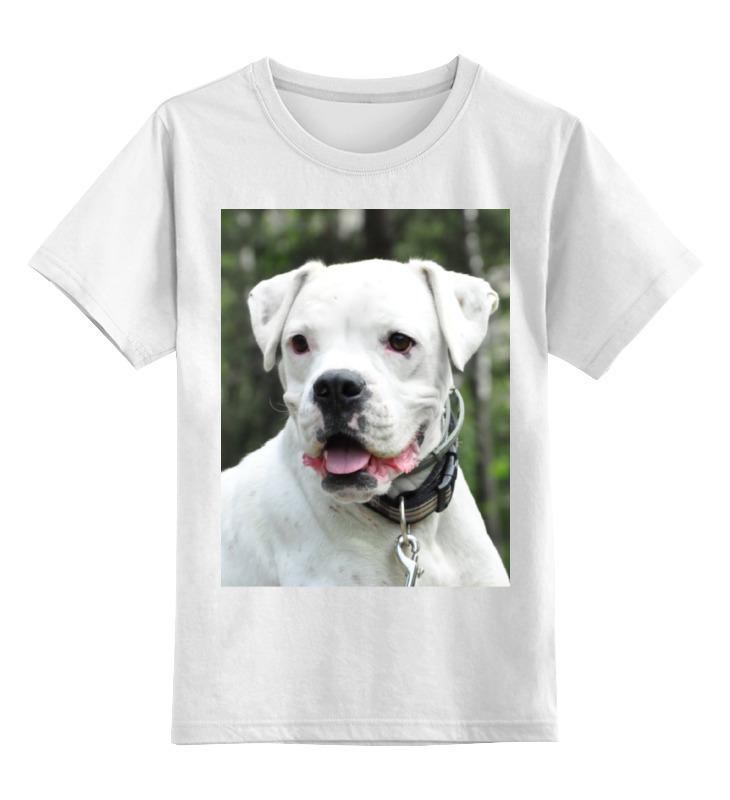 Купить 0000000737124, Детская футболка Printio Aksa&boxer-co цв.белый р.128,