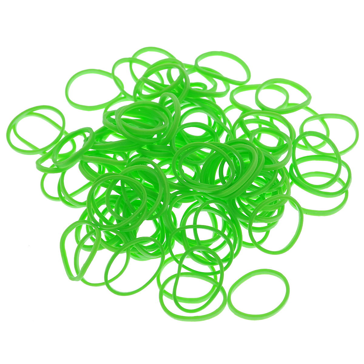 Купить Набор из резинок Rubber Band одноцветные (600 шт.), К-103-12, Зеленый,