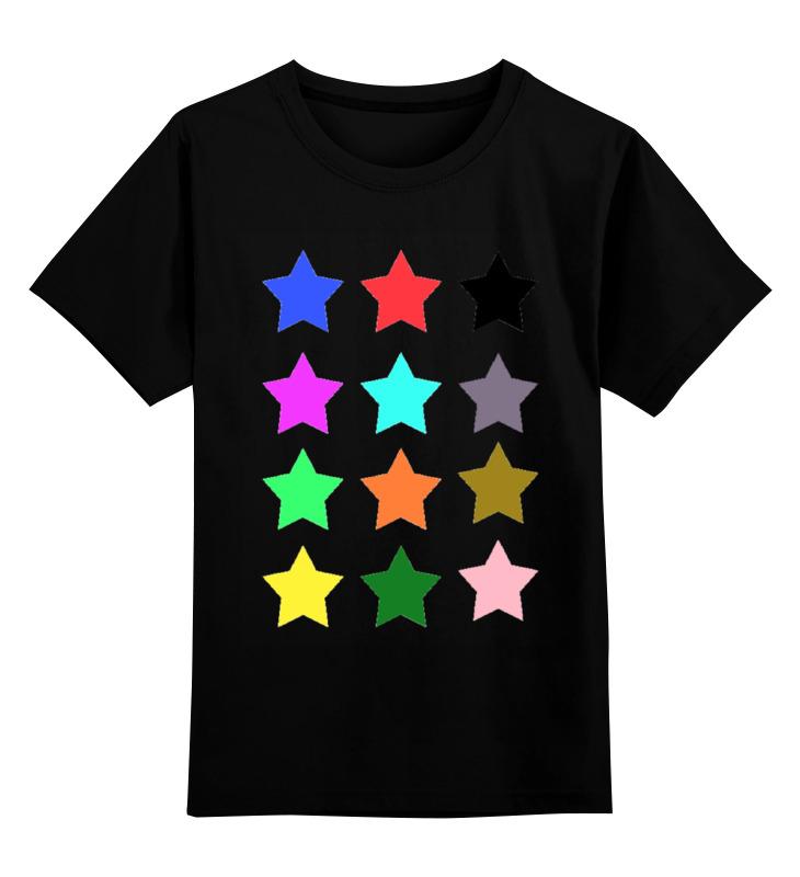 Детская футболка Printio stars on the black цв.черный р.128 0000000728273 по цене 990