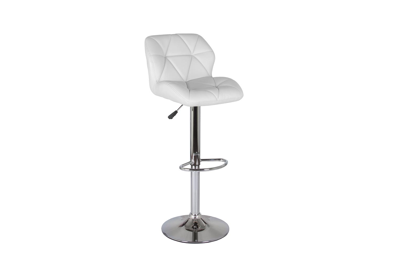 Барный стул Hoff Алмаз 80367092, серебристый/белый