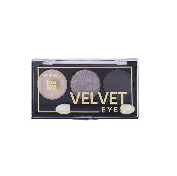 Купить Компактные тени для век Vitex VELVET EYES тон 01 Smoky eyes
