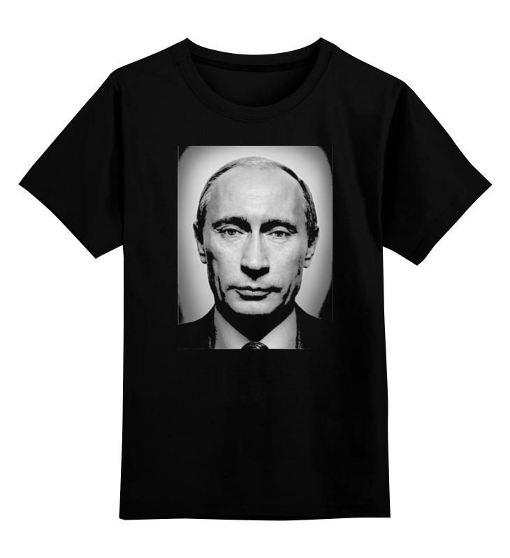 Купить 0000000749941, Детская футболка Printio Путин цв.черный р.140,