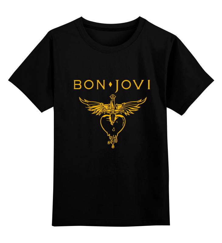 Купить 0000000748008, Детская футболка Printio Bon jovi цв.черный р.140,
