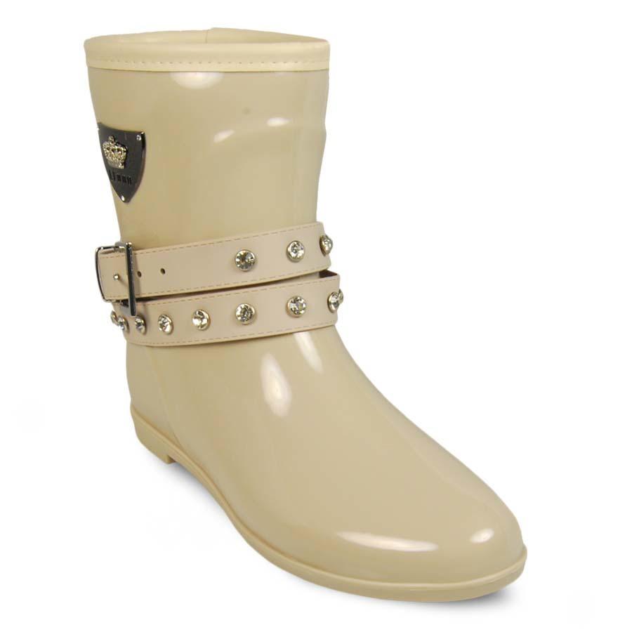 Резиновые сапоги женские Keddo 887513-01 бежевые 36 RU