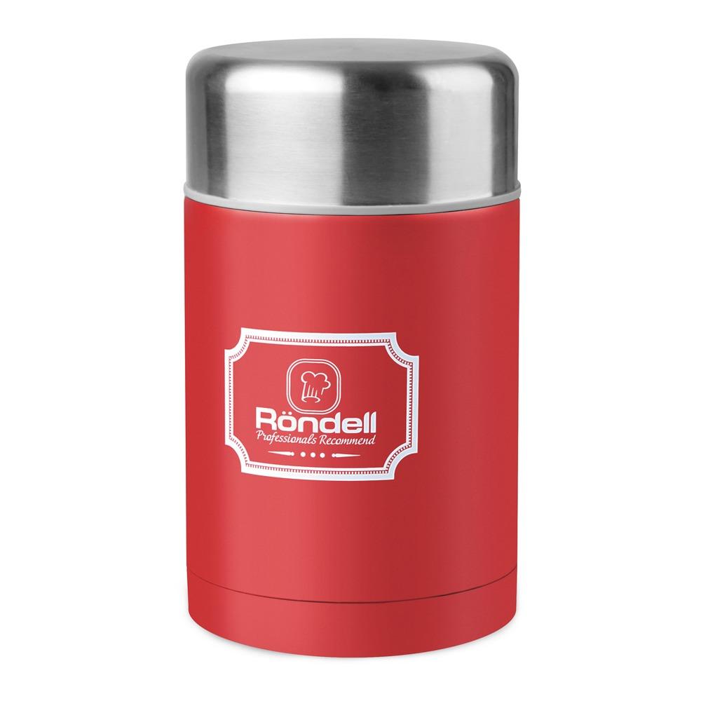 945-RDS Термос для еды 0,8 л с внутр.контейнером 0,35 л Picnic Red Rondell R