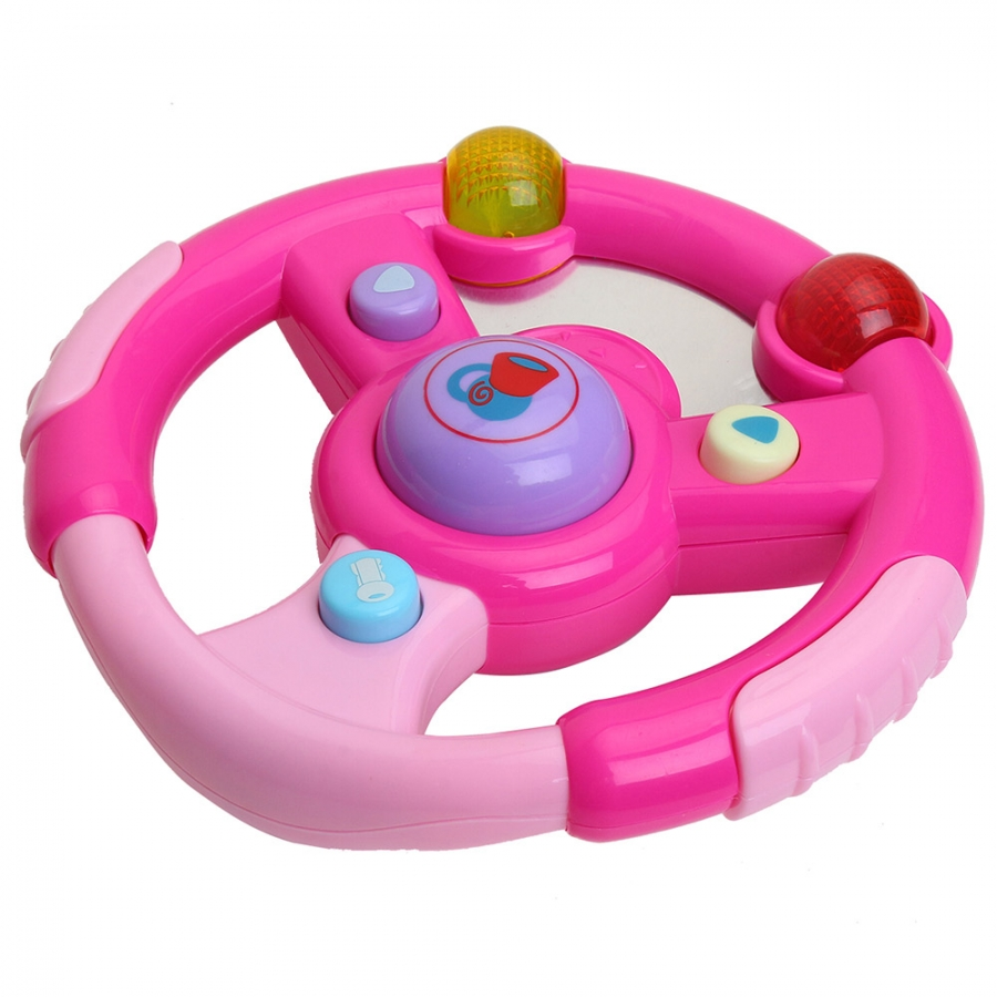 Развивающая игрушка Pituso Музыкальный руль, розовый