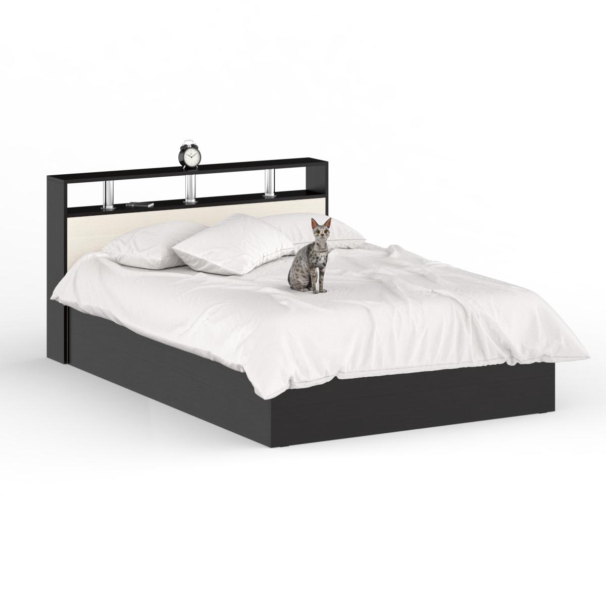 Кровать 1400 СВК Камелия венге/дуб лоредо, 143,5х203,5х88,2