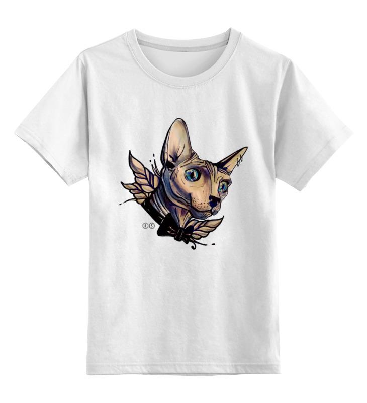 Купить 0000000732613, Детская футболка Printio Mr. cox цв.белый р.140,